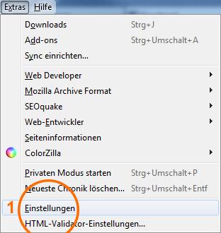 Browser-Cache leeren im Mozilla Firefox 2/3