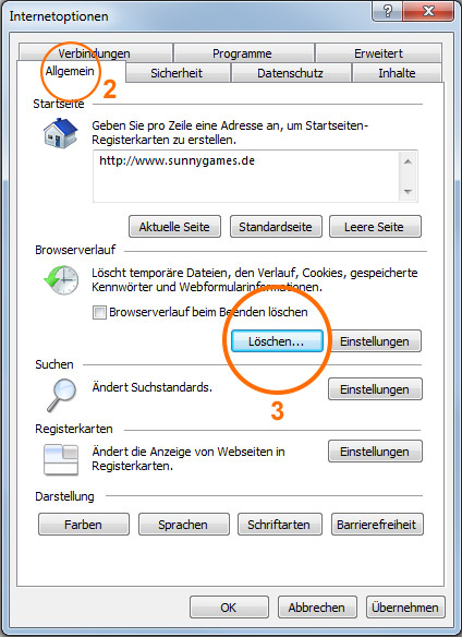 Browser-Cache leeren im Internet Explorer 3/5