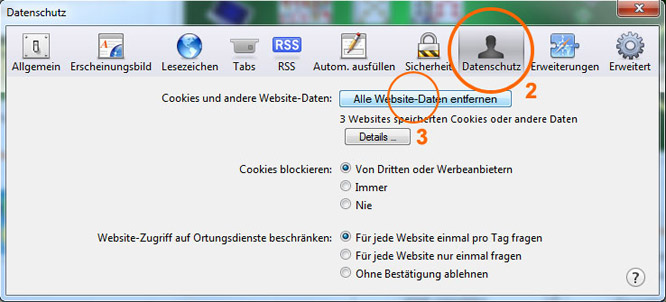 Browser-Cache leeren im Apple Safari 2/3